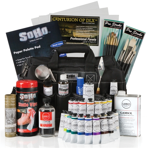 Over 50 oil painting products are included in this set!