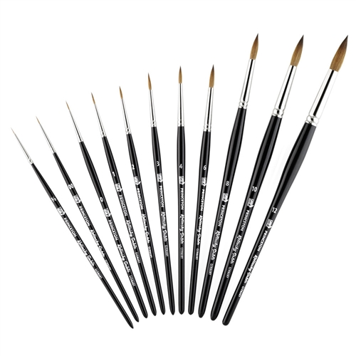 Princeton Series 7050 Kolinsky Sable Round Short Handle Brushes