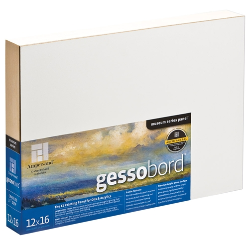 Answering the needs of artists looking for standard gallery-depth panels, 1.5 Cradle Gessobord is an ideal, versatile painting support for acrylic, oil and multimedia artists.