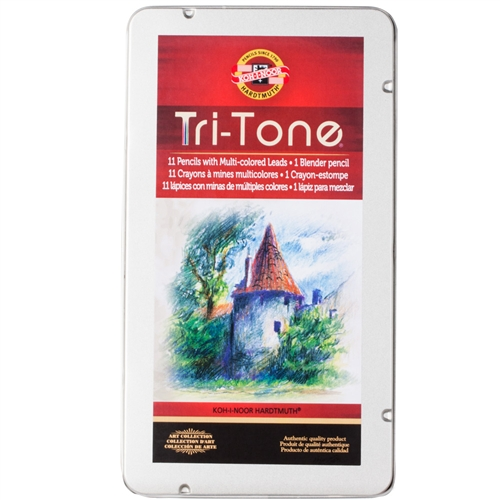Koh-I-Noor Tri-Tone Colored Pencil Set of 12