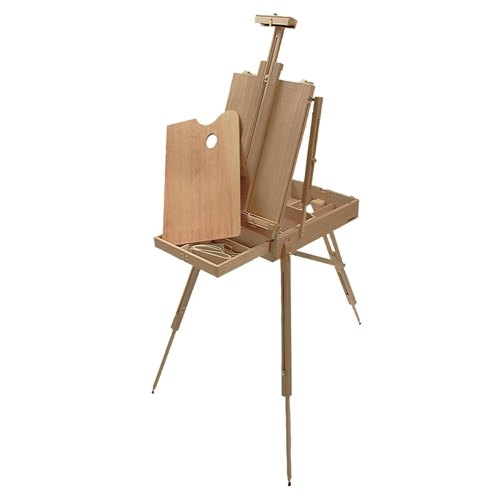 The Monet is a faithful replica of a French style easels such as the ones produced by Jullian and Mabef.