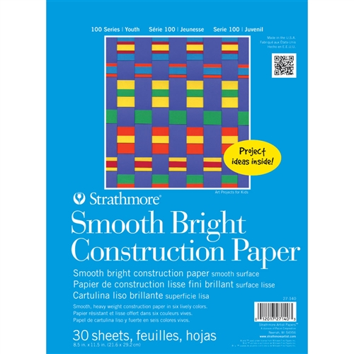 Strathmore 100 Series Kids\' Smooth Bright Construction Paper Pad
