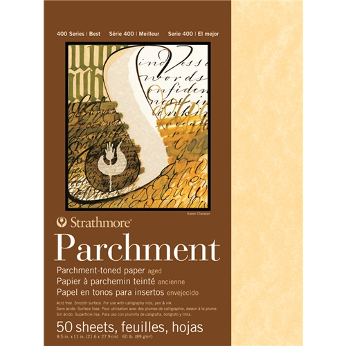 Strathmore Parchment Paper features a smooth surface - excellent for even ink flow!