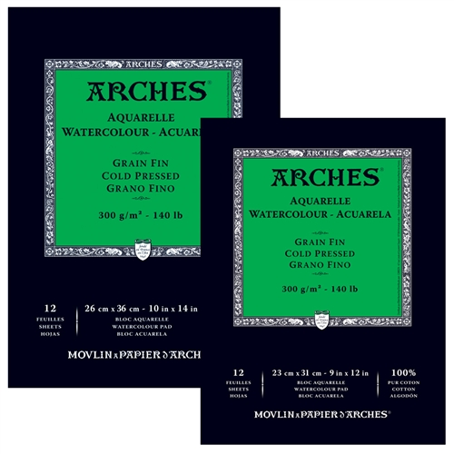 Arches Watercolor Paper 12 Sheet Tape-Bound Pad - Cold Press