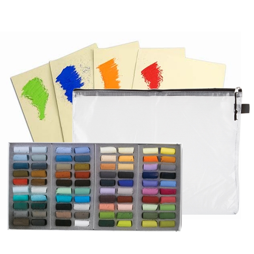 Value Set of 80 Half-Stick Soft Pastels in Assorted Colors
