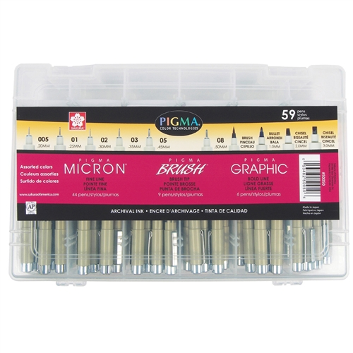 Pigma Micron/Brush/Graphic Complete Set of 59
