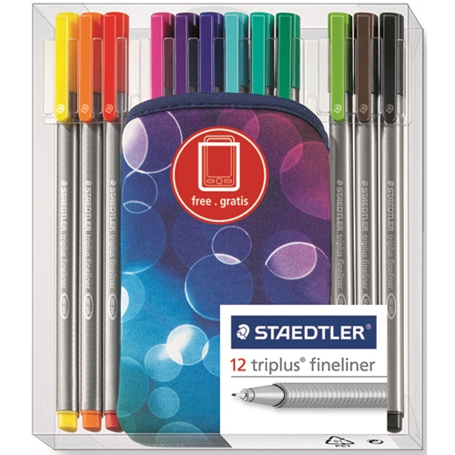 Staedler Tri-Plus Fineline Pen Set of 12