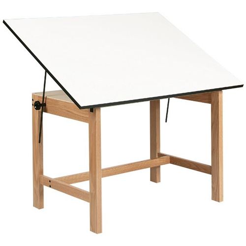 ALVIN Titan Table features an oak finish that is well protected by two coats of clear lacquer