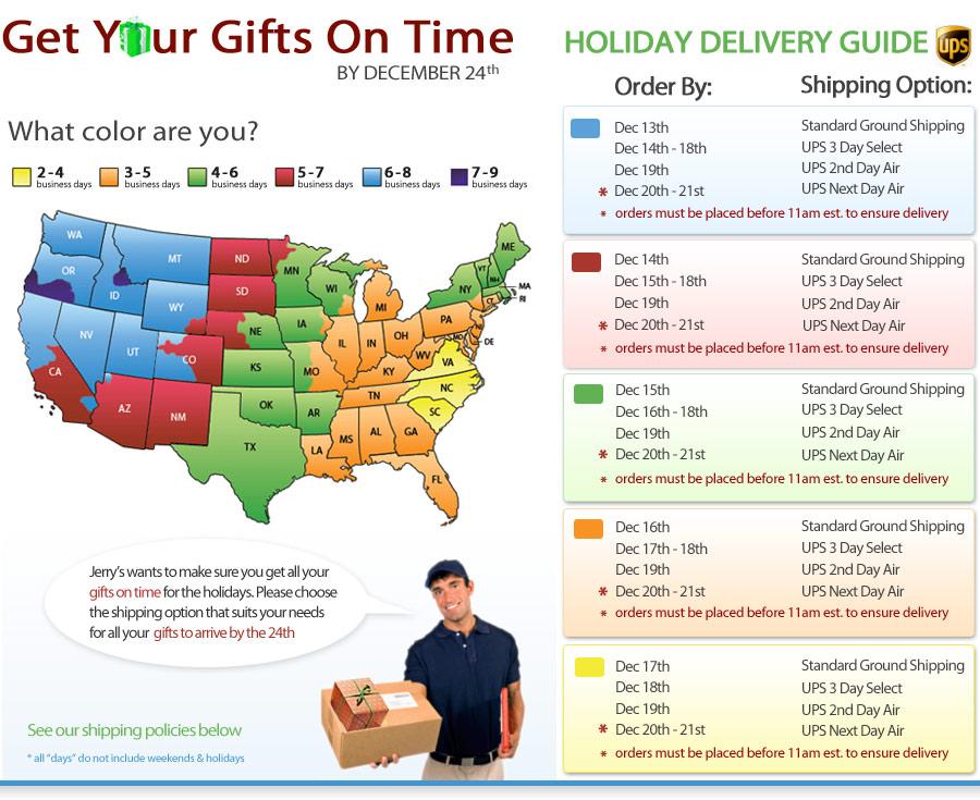 Holiday Shipping Info - Jerry\'s Artarama