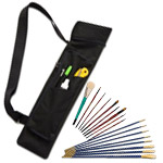 Jewel Plein Aire Bristle Brush Quiver Set
