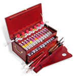 LUKAS 1862 Deluxe Oil Color Wooden Box Set