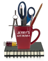 Coffee Mug filled with art supplies