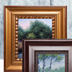 Unique beveled canvases and classic wood frames in a variety of finishes to accentuate your artwork.
