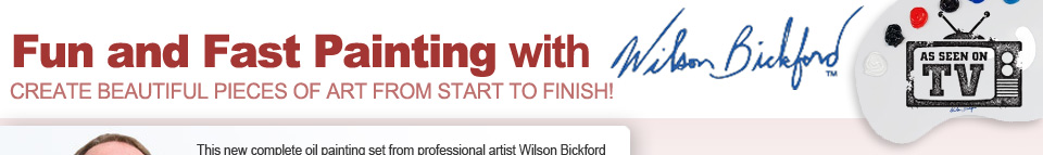 Wilson Bickford Fun and Fast Painting as Seen On TV