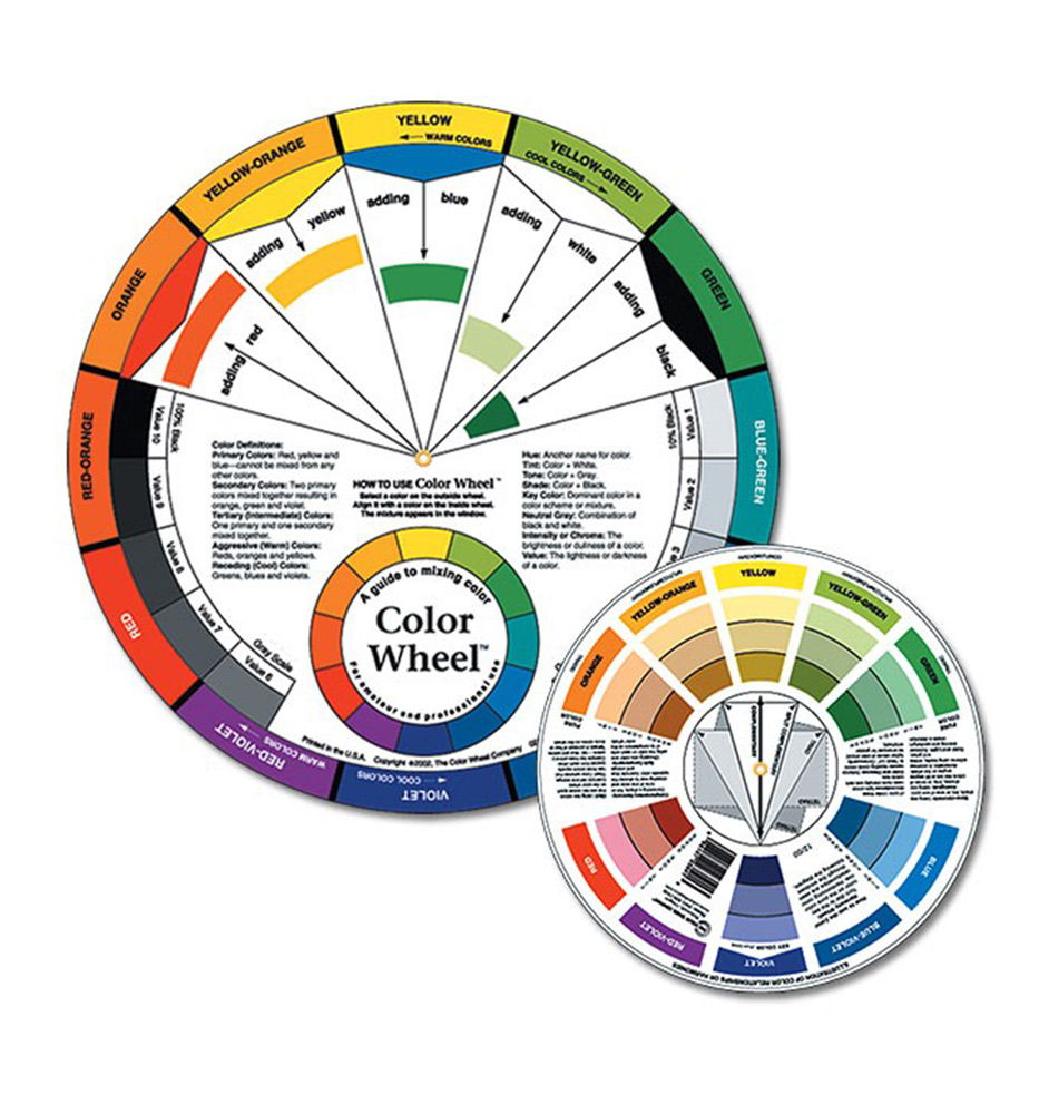 Color mixing guides jerrys artarama color wheels nvjuhfo Choice Image