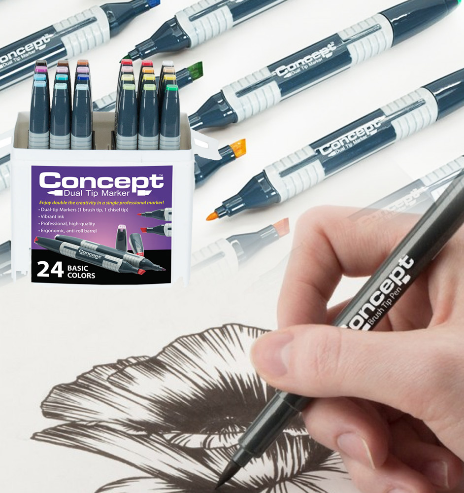Color drawing pens for artists - Concept Markers Sets
