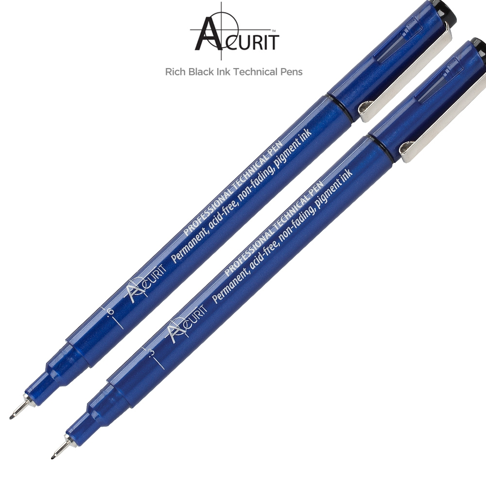 Acurit Technical Drawing Pens Boxes of 12