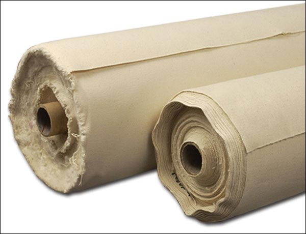 Unprimed Cotton Duck Rolls