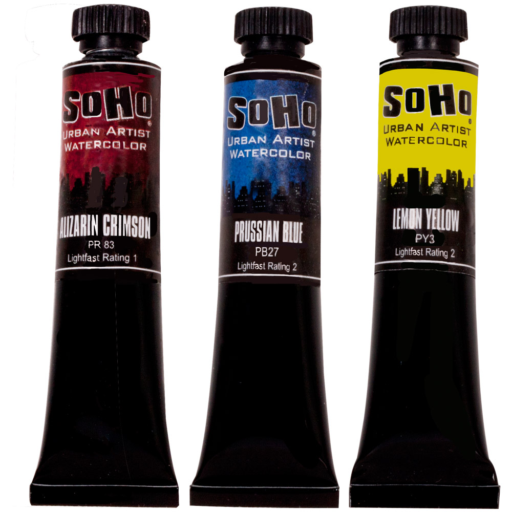 Hot Purchase! 7ml SoHo Urban Artist Quality Watercolor Paints are only $1.49 ea.!