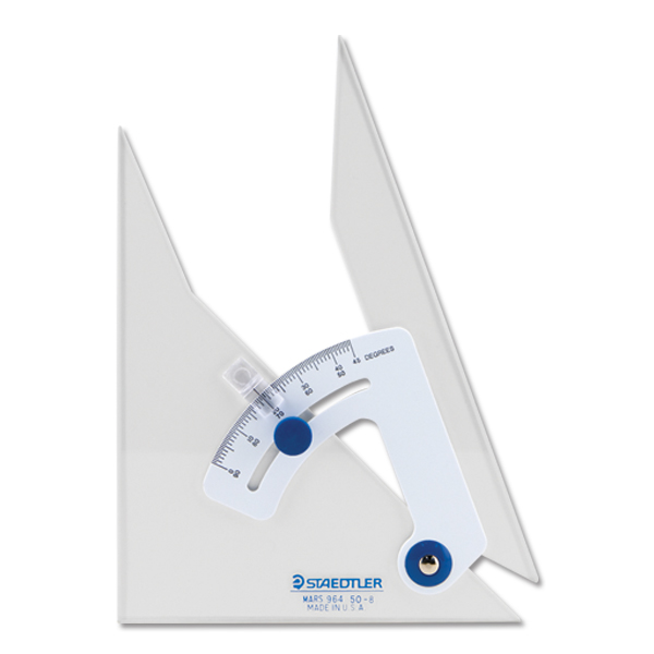 Staedtler Clear Adjustable Triangle - 8 inch