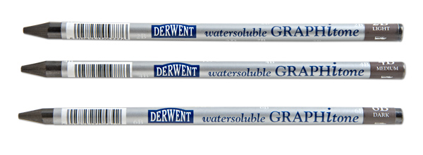 Derwent Watersoluble Graphitone Pencils