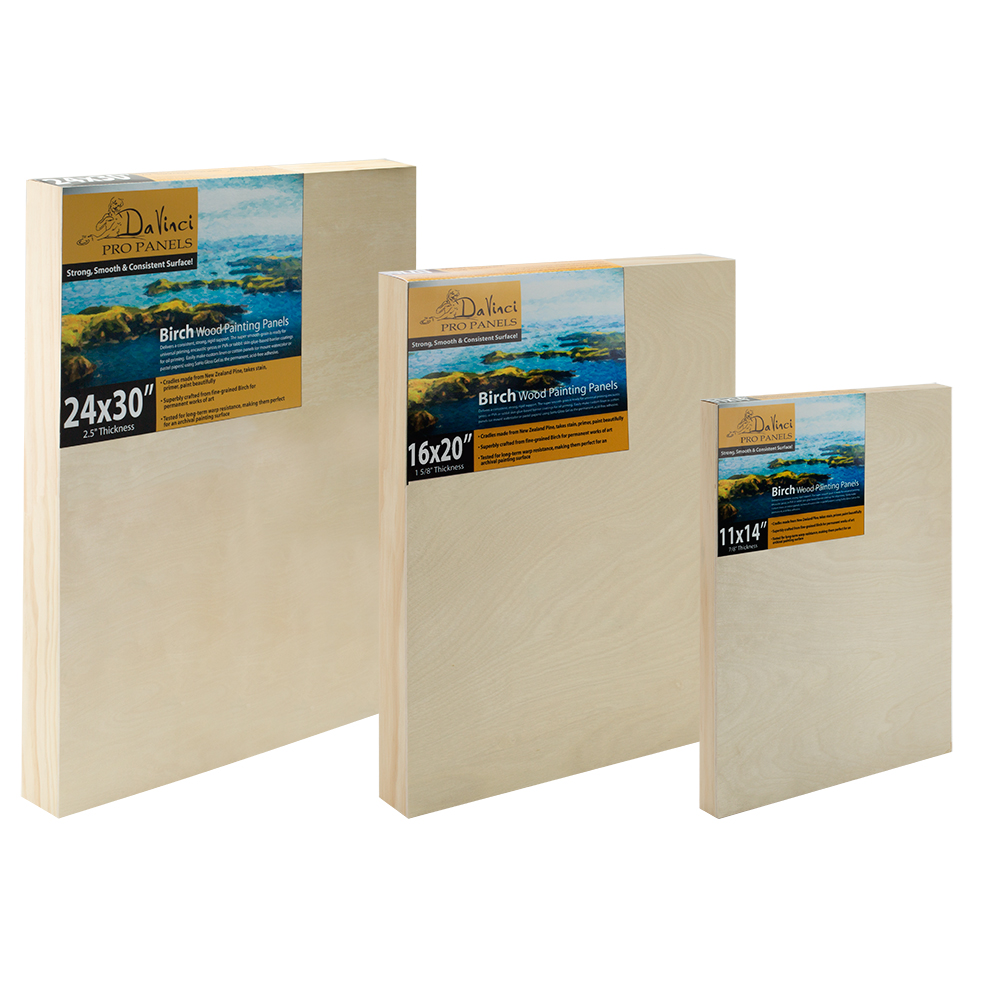 Da Vinci Pro Birch Wood Painting Panels