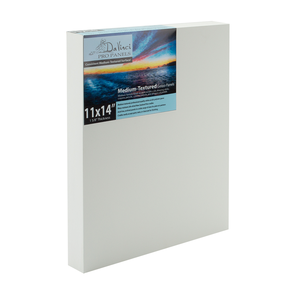 Da Vinci Pro Medium Textured Gesso Panels Box of 12
