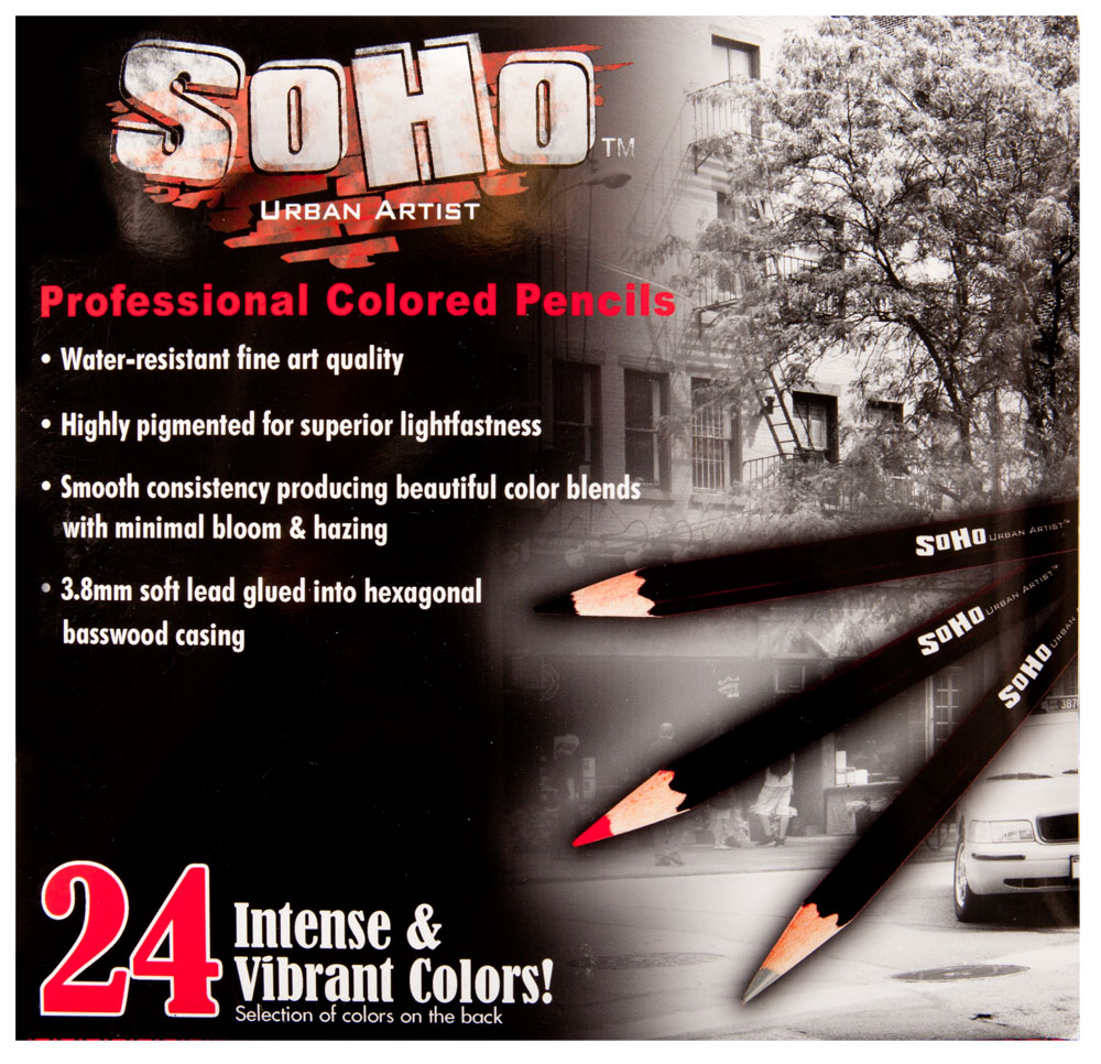 SoHo Urban Artist Professional Colored Pencils Sets