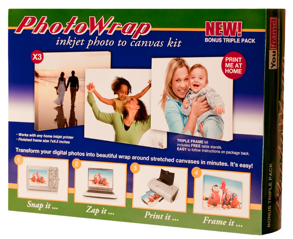 BUY ONE GET ONE FREE PhotoWrap Inkjet Photo to Canvas Kit (a $14.99 value)