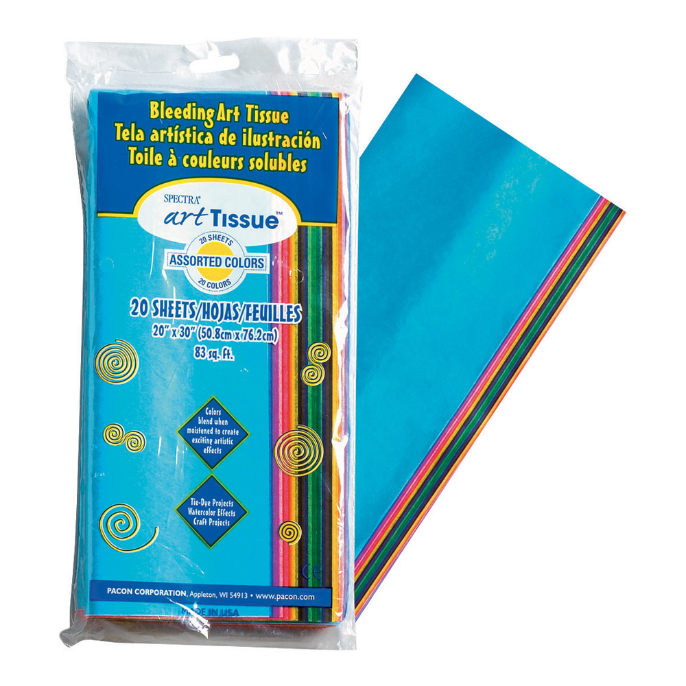 Pacon Spectra Deluxe Art Tissue Paper 20 Sheet Pack