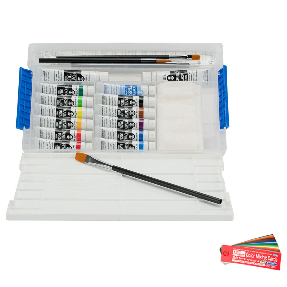 Turner Acryl Gouache Smart Set of 12 w/ FREE Color Mixing Cards
