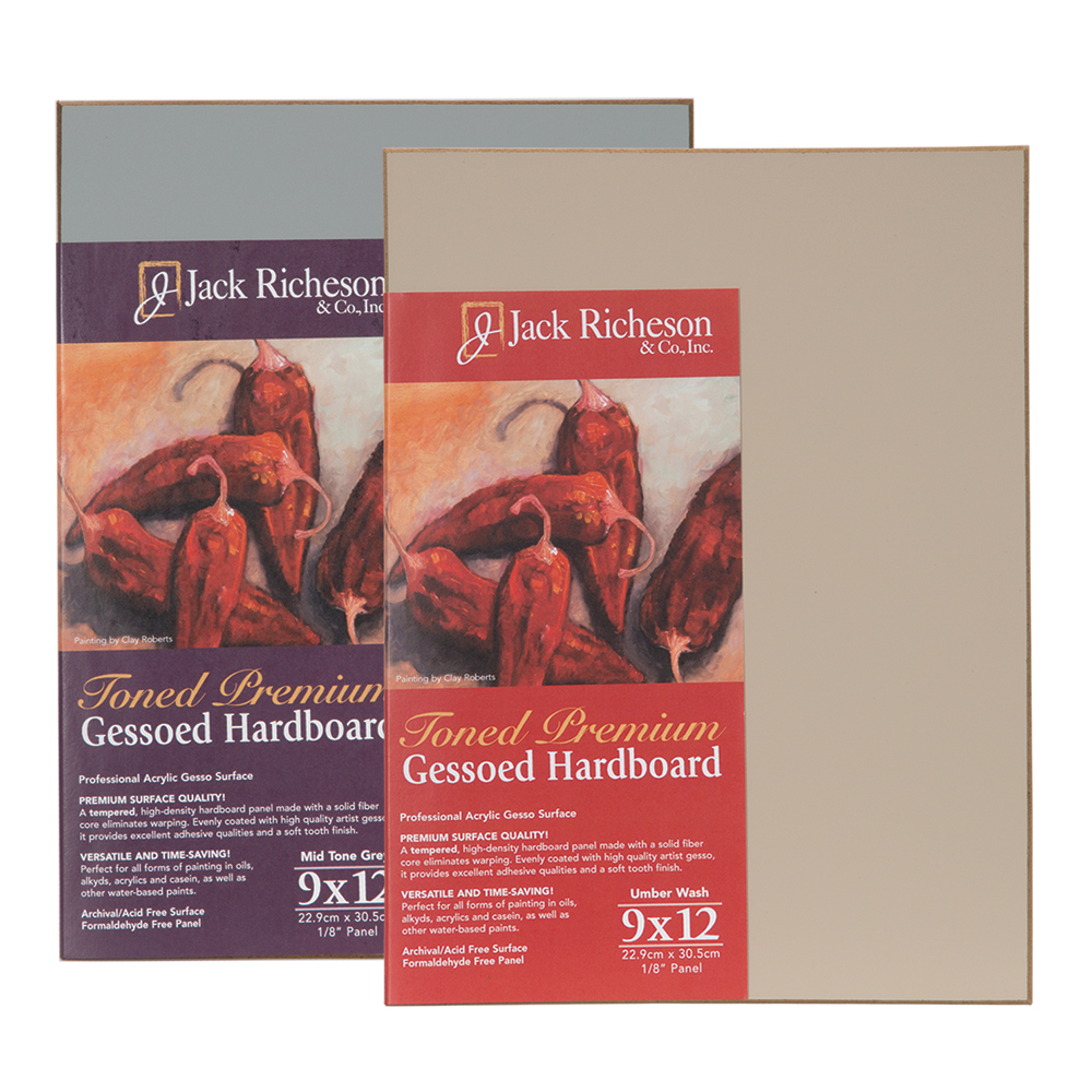 Jerry's Exclusive Offer! 3 for Price of 2! Jack Richeson Toned Gesso Hardboard
