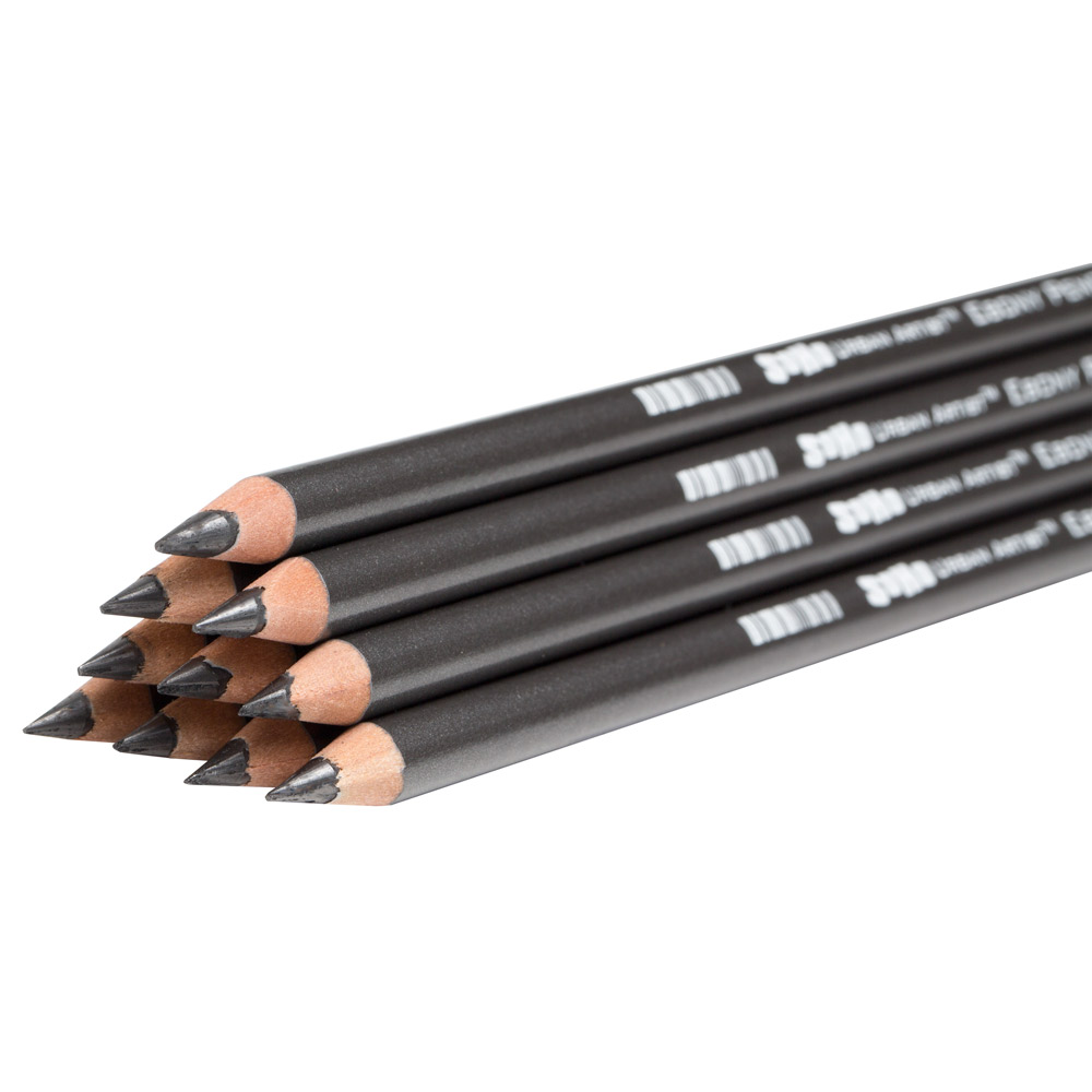 SoHo Ebony Soft Super Dark Graphite Pencils