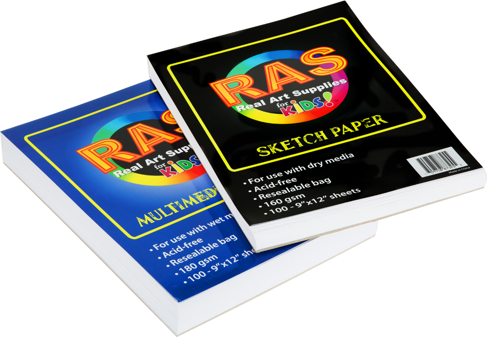 "RAS Kids Art Resealable 9""x12"" Paper"