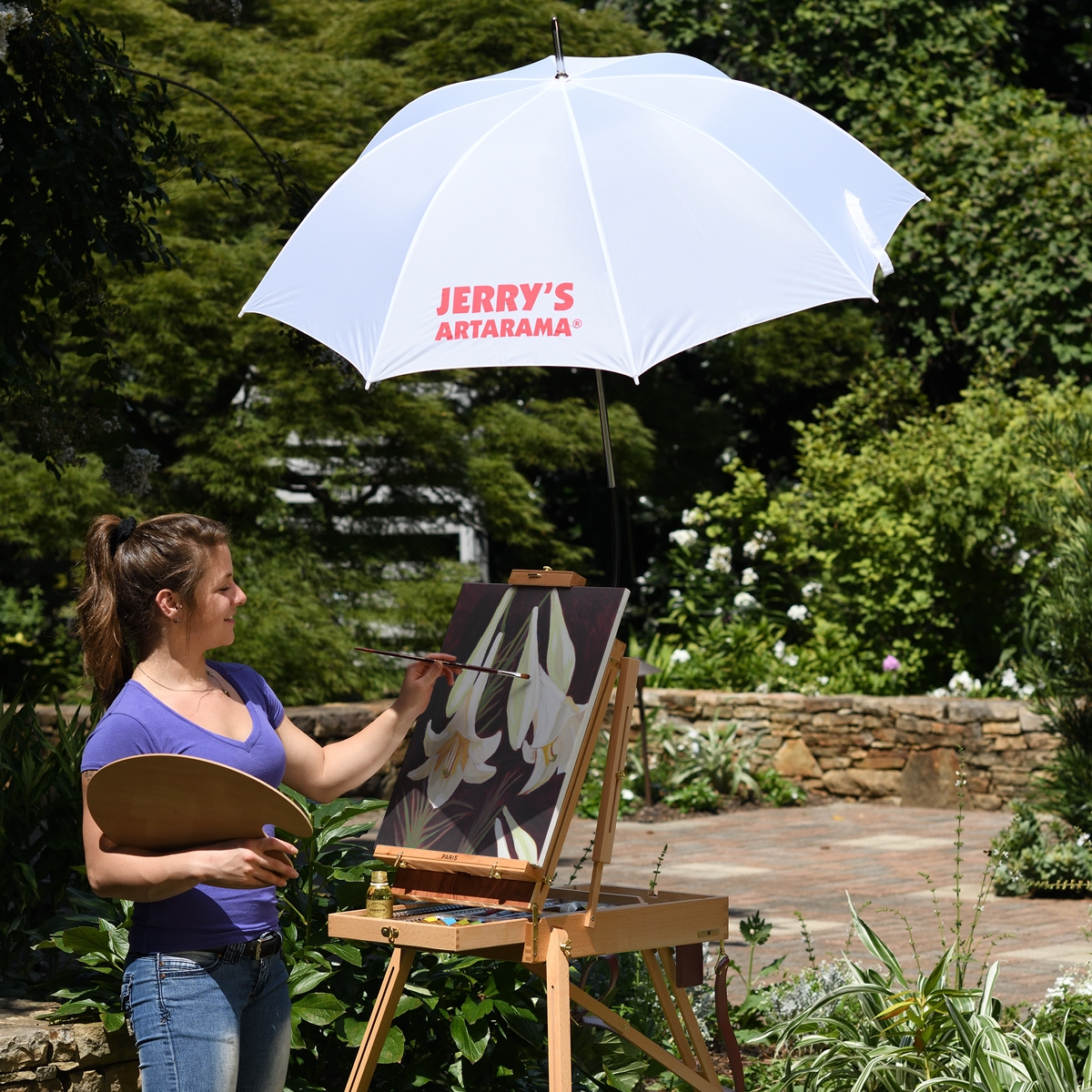 Deluxe Outdoor Adjustable Painting Umbrella by Jerry's