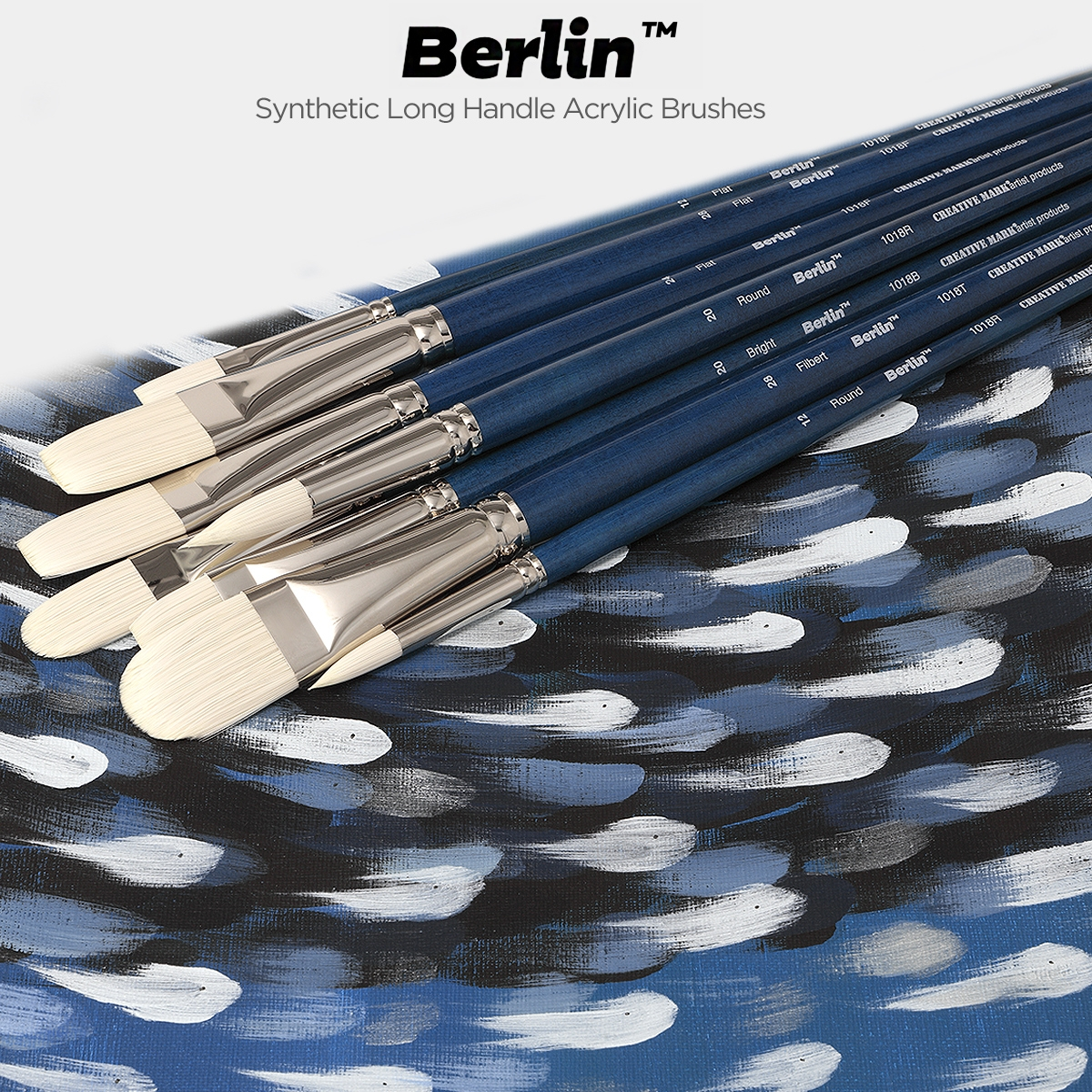 Berlin Synthetic Long Handle Acrylic Brushes