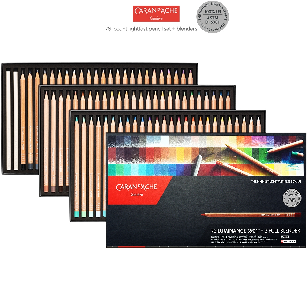 Caran d'Ache Luminance 6901 Colored Pencil Sets