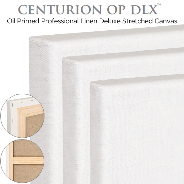 Deluxe Professional Oil Primed Linen Stretched Canvas Centurion