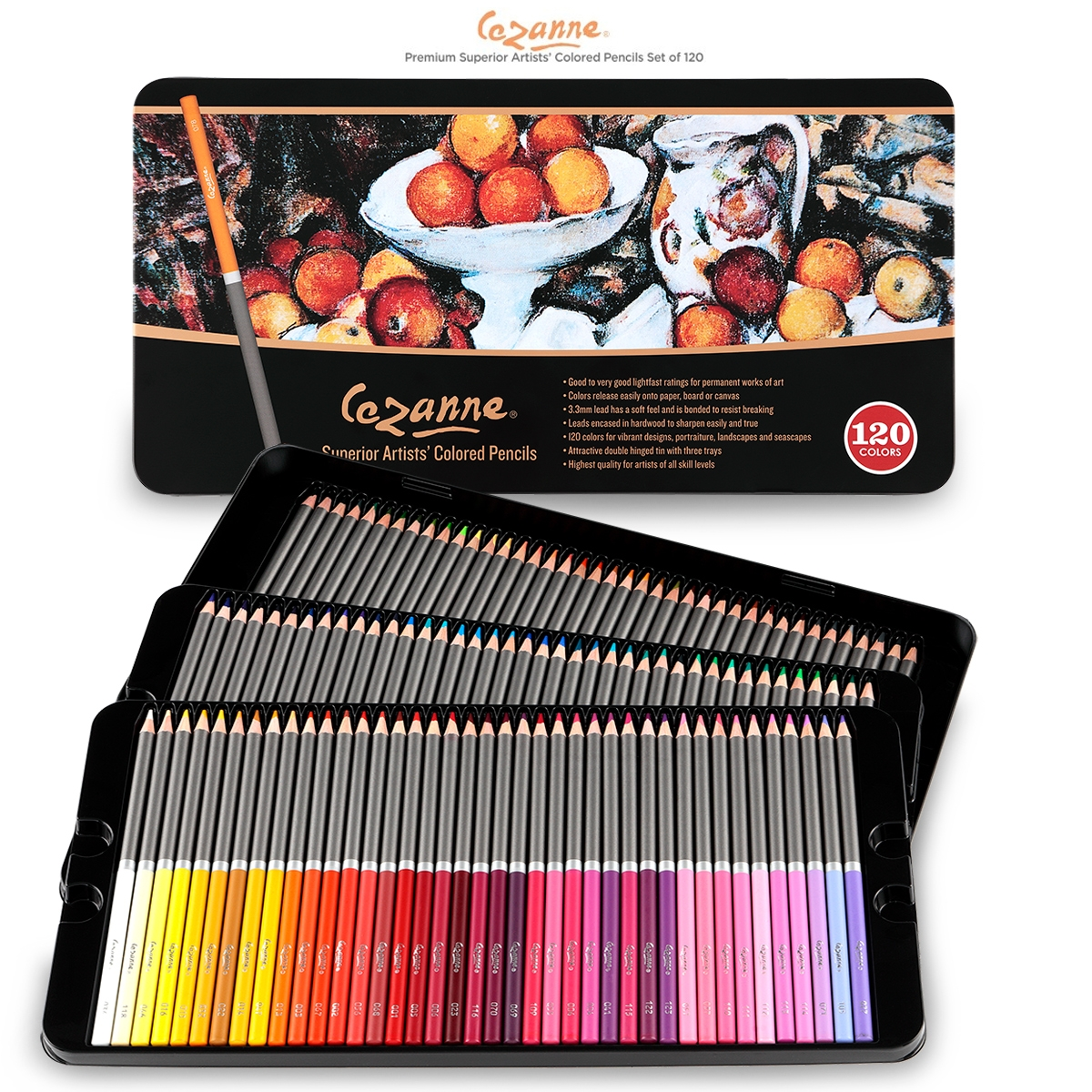 Cezanne Premium Colored Pencil Tin Set Of 120