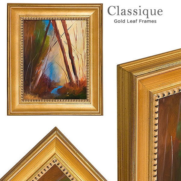 """NEW EUROPEAN CLASSIC PHOTO PICTURE ART PAINTING FRAME WOOD SILVER LEAF 2.5/"""" WIDE"""