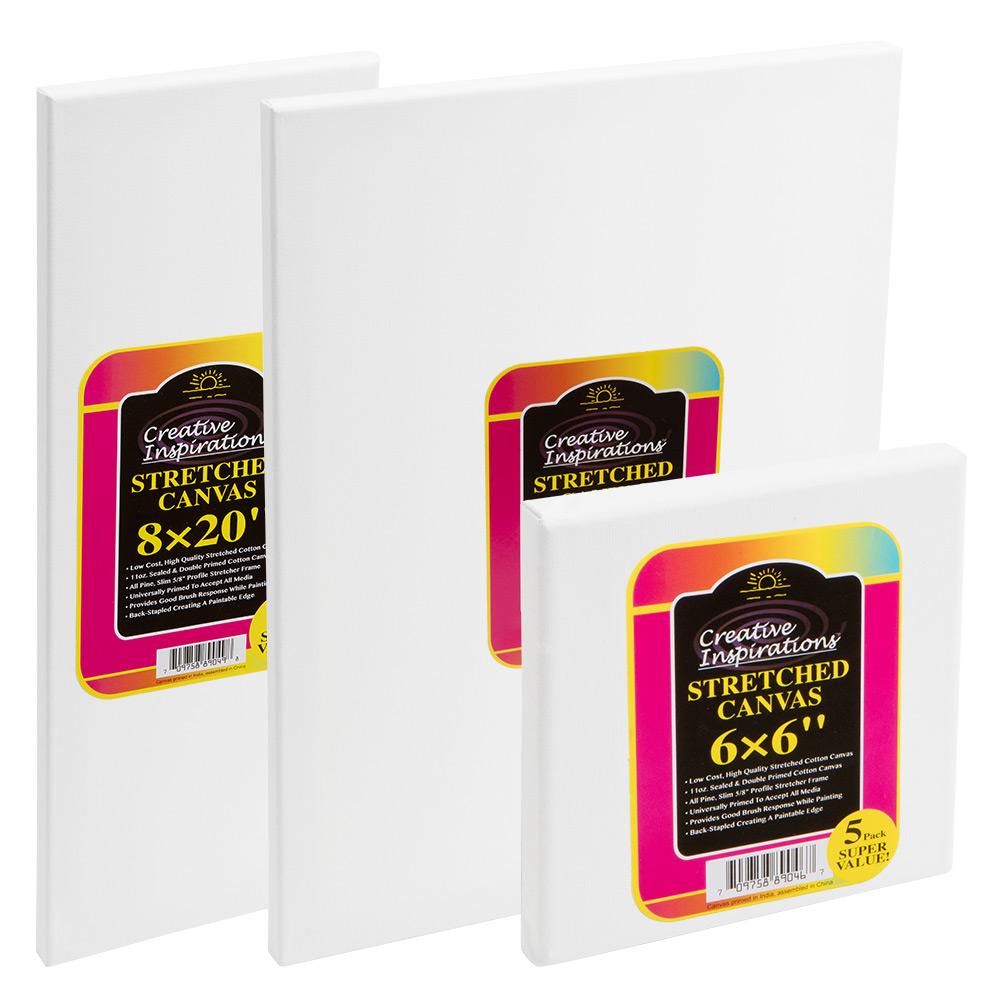 SALE Creative Inspirations Super Value Stretched Canvas 5-Packs