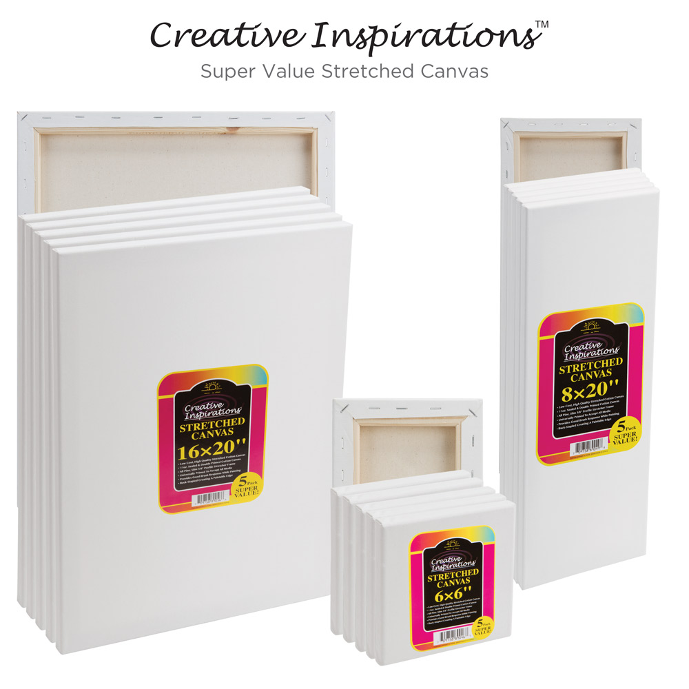 Bulk savings Creative Inspirations Super Value Stretched Canvas Packs