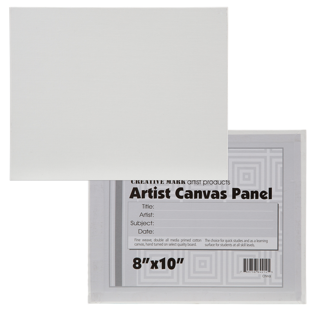 Cotton Canvas Panels By Creative Mark