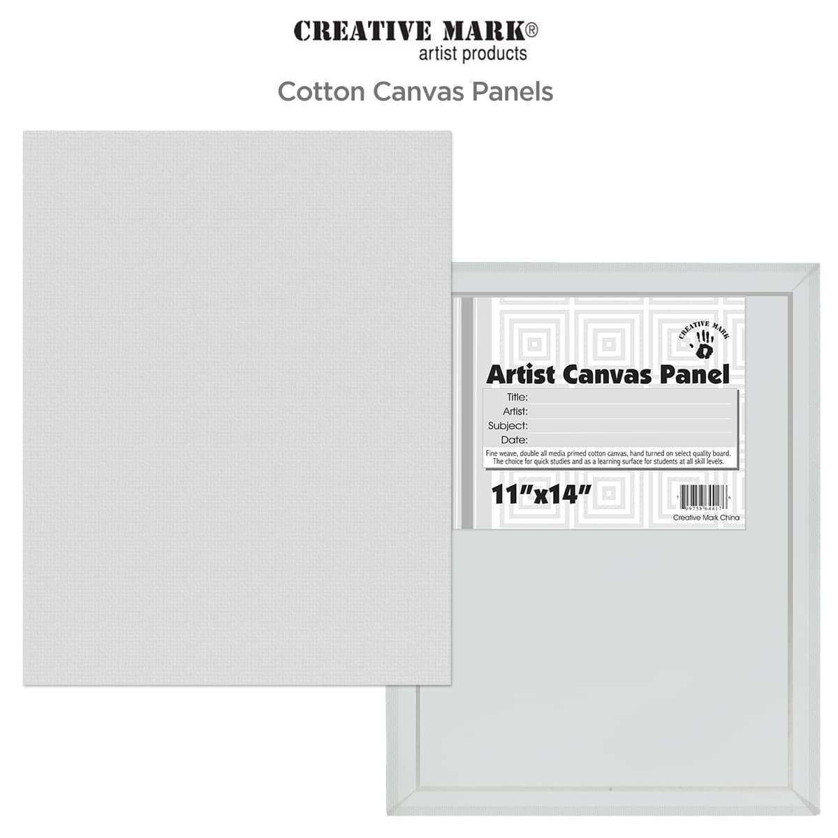 Economy Canvas Panels 8X10 Box of 50 Bulk Discount White Acid Free Artist Canvas