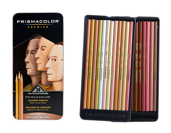Prismacolor Pencil 24 Color Portrait Set