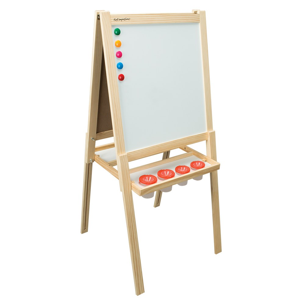 children 39 s double sided wood easel w accessories first impressions jerry 39 s artarama. Black Bedroom Furniture Sets. Home Design Ideas
