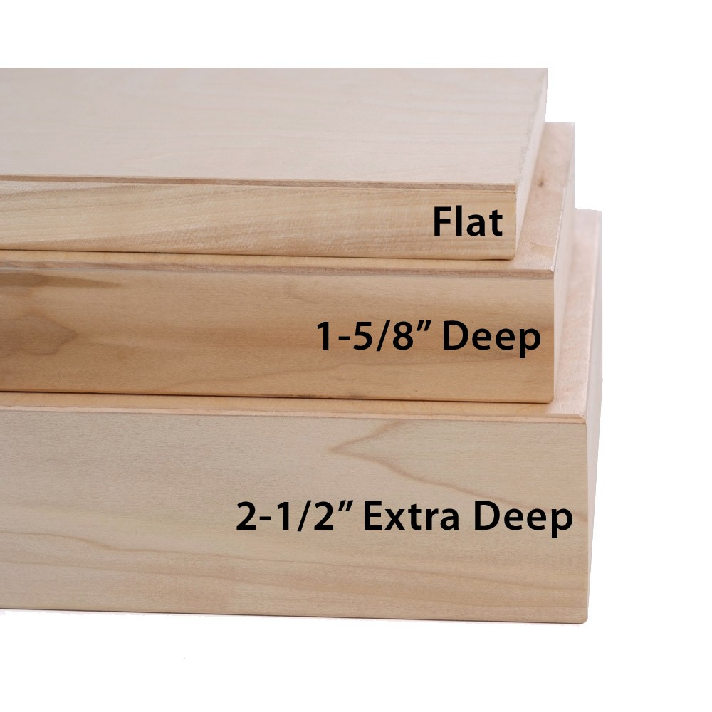 American Easel Wood Painting Panels - 1-5/8