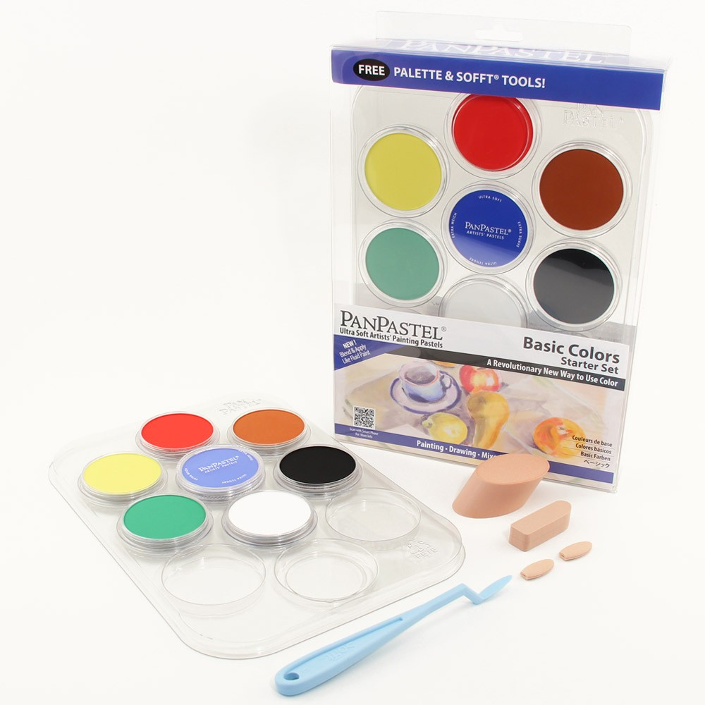 Colorfin PanPastel Pearlescent and Mediums Artist Pastels Set 10 Pack