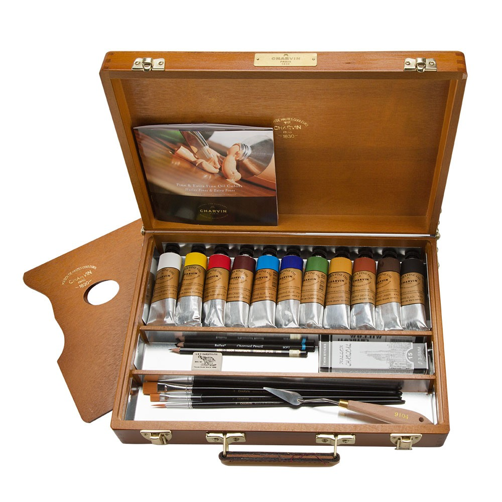Charvin extra fine oil painting sets jerry 39 s artarama - Paint exterior wood set ...