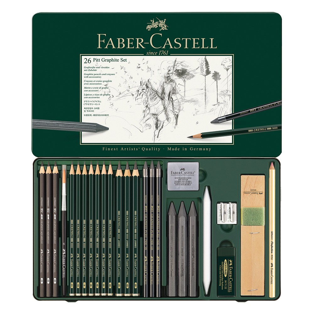 faber castell graphite aquarelle pencil sets jerry 39 s artarama. Black Bedroom Furniture Sets. Home Design Ideas